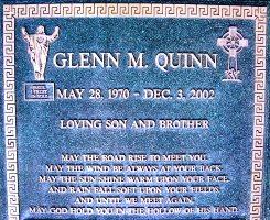 glenn quinn found a gravefound a grave