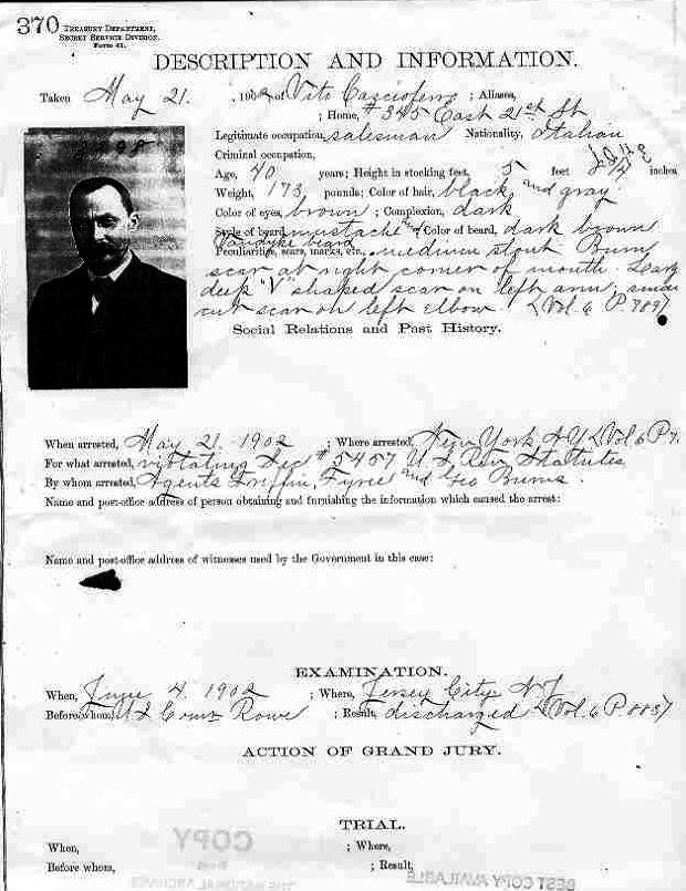 Vito_Cascioferro_arrest_sheet -