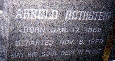 Arnold Rothstein - Found a GraveFound a Grave