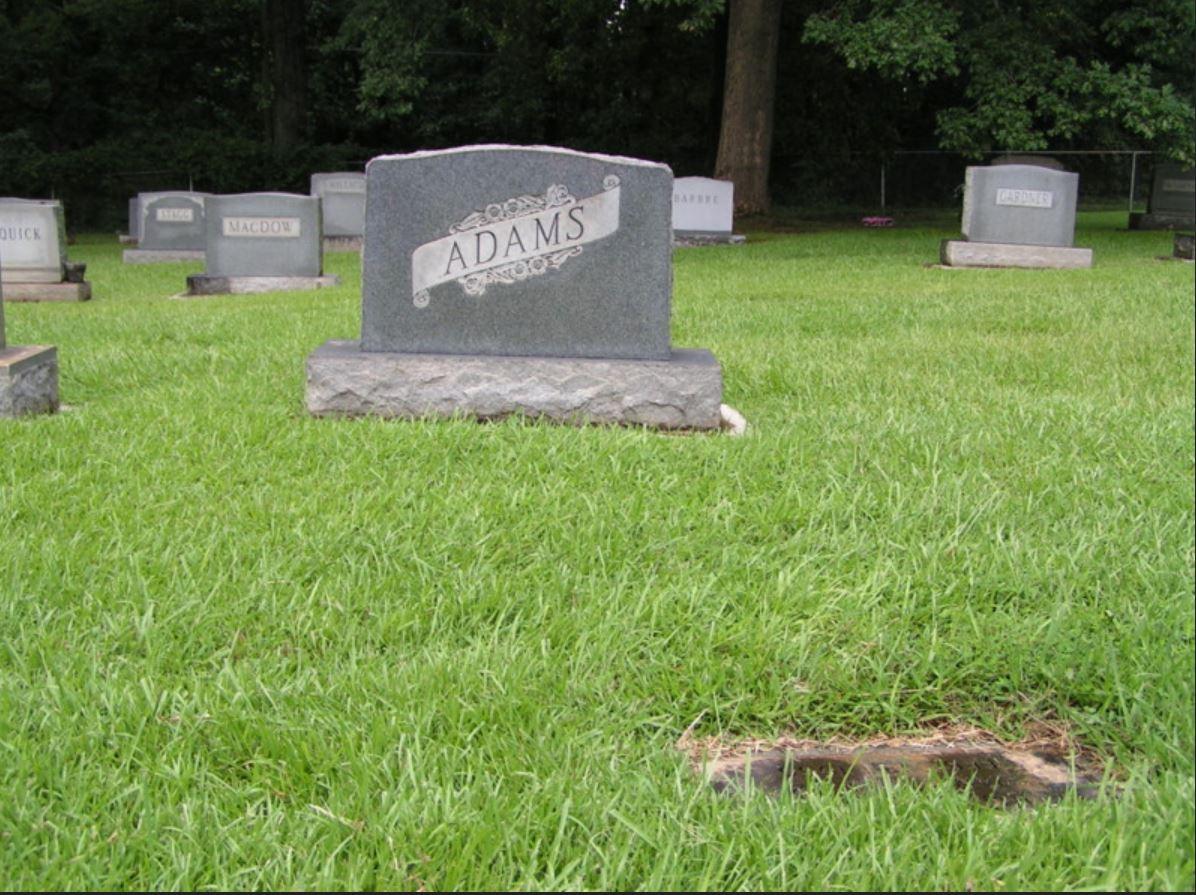 Adams grave -