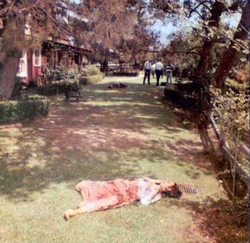 body at crime scene -