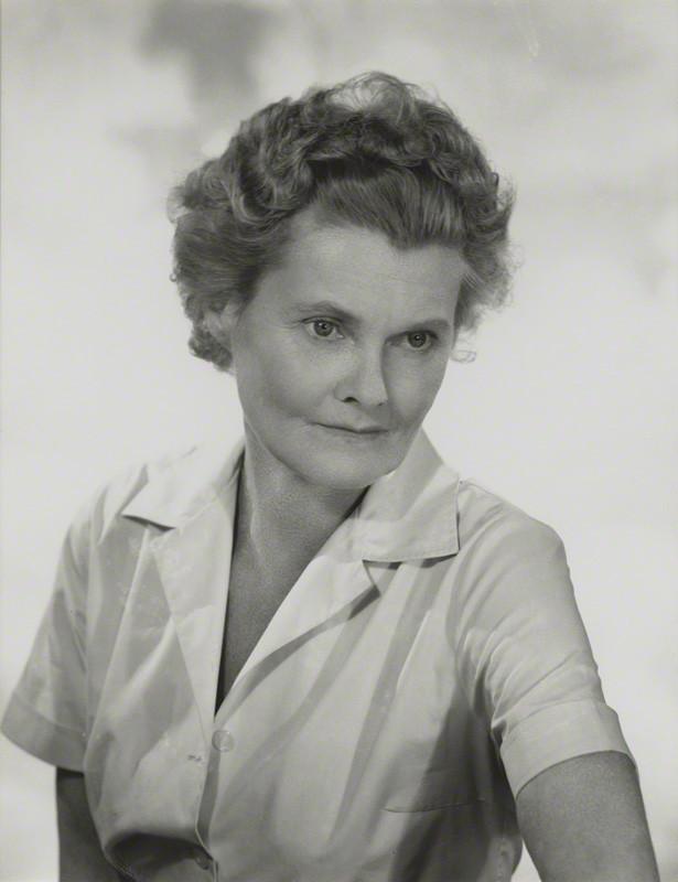 NPG x131726; Joy Adamson (nÈe Friederike Viktoria Gessner) by Madame Yevonde - by Madame Yevonde, black and white reprint on card mount, 1962