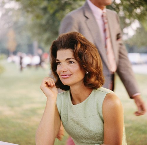 Jacqueline Kennedy - CIRCA 1960s:  Former First Lady Jacqueline Kennedy enjoys herself at a picnic circa the 1960s.  (Photo by Michael Ochs Archives/Getty Images)