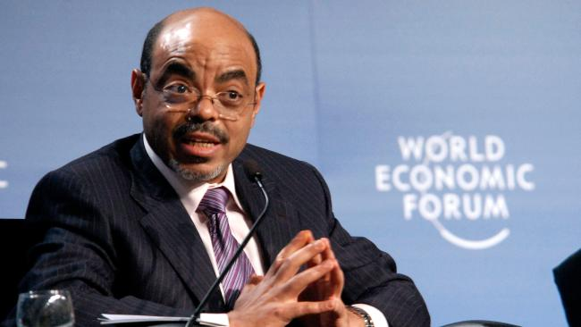 Meles 2 - FILE--In this photo File of Thursday May 6 2010, Ethiopian Prime Minister, Meles Zenawi, speaks during  the 20th World Economic Forum on Africa at Mlimanin City Conference Centre in Dar es Salaam, Tanzania  . Prime Minister Meles Zenawi dies following weeks of illness, Ethiopian State media reports.  (AP Photo/Khalfan Said- FILE)