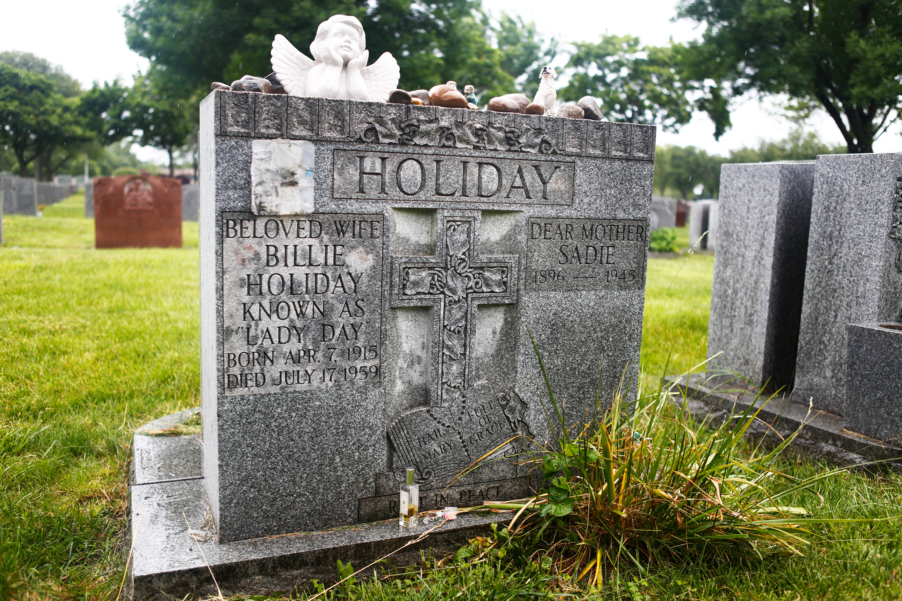 queenesther09_12506337 - Billie Holiday, who died on July 17, 1959, is buried alongside her mother, Sadie Fagan, in St. Raymond's Cemetery in the Bronx.