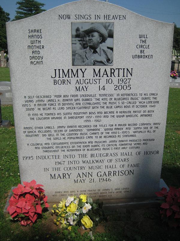 Jimmy Martin grave -