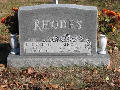 Speck Rhodes grave -