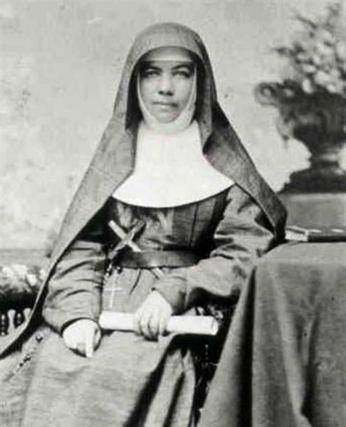 Mary_MacKillop - Sister Mary MacKillop, Australian/New Zealand nun (1842-1909), founded the Sisters of St. Joseph of the Sacred Heart. Beatified as Blessed Mary MacKillop in 1995; due to be canonised as Saint Mary of the Cross (MacKillop) on 17 October 2010.