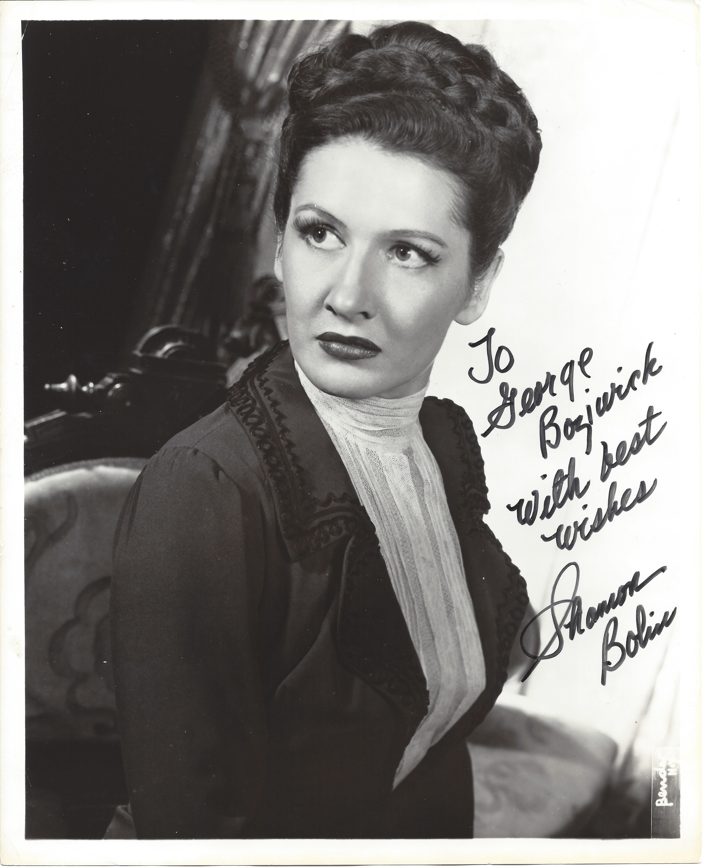 Shannon Bolin signed photo -