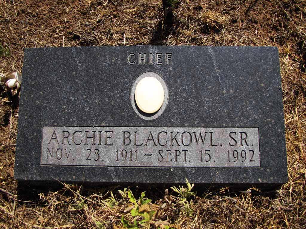 Chief Archie Blackowl, Sr