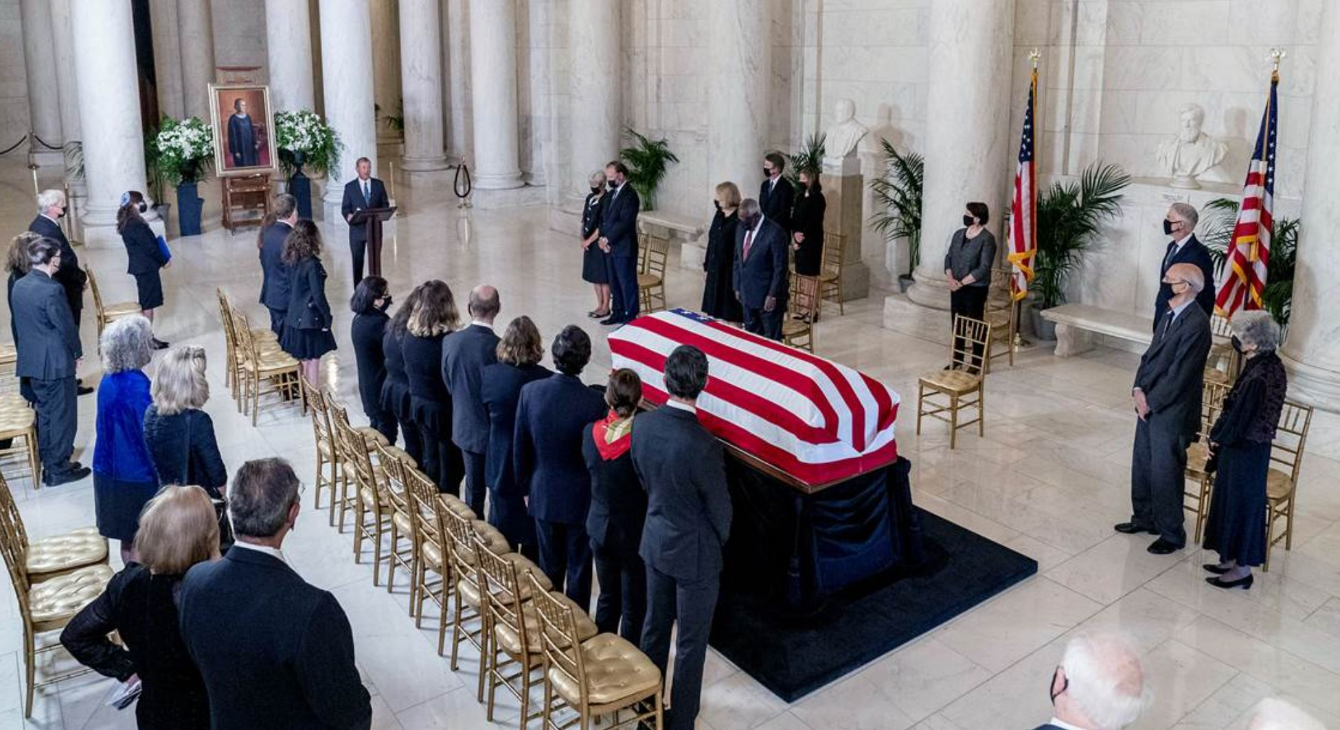 Ruth lying in state -